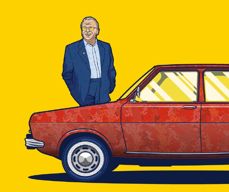 Dacia Car Evolution Illustration Illustrescu