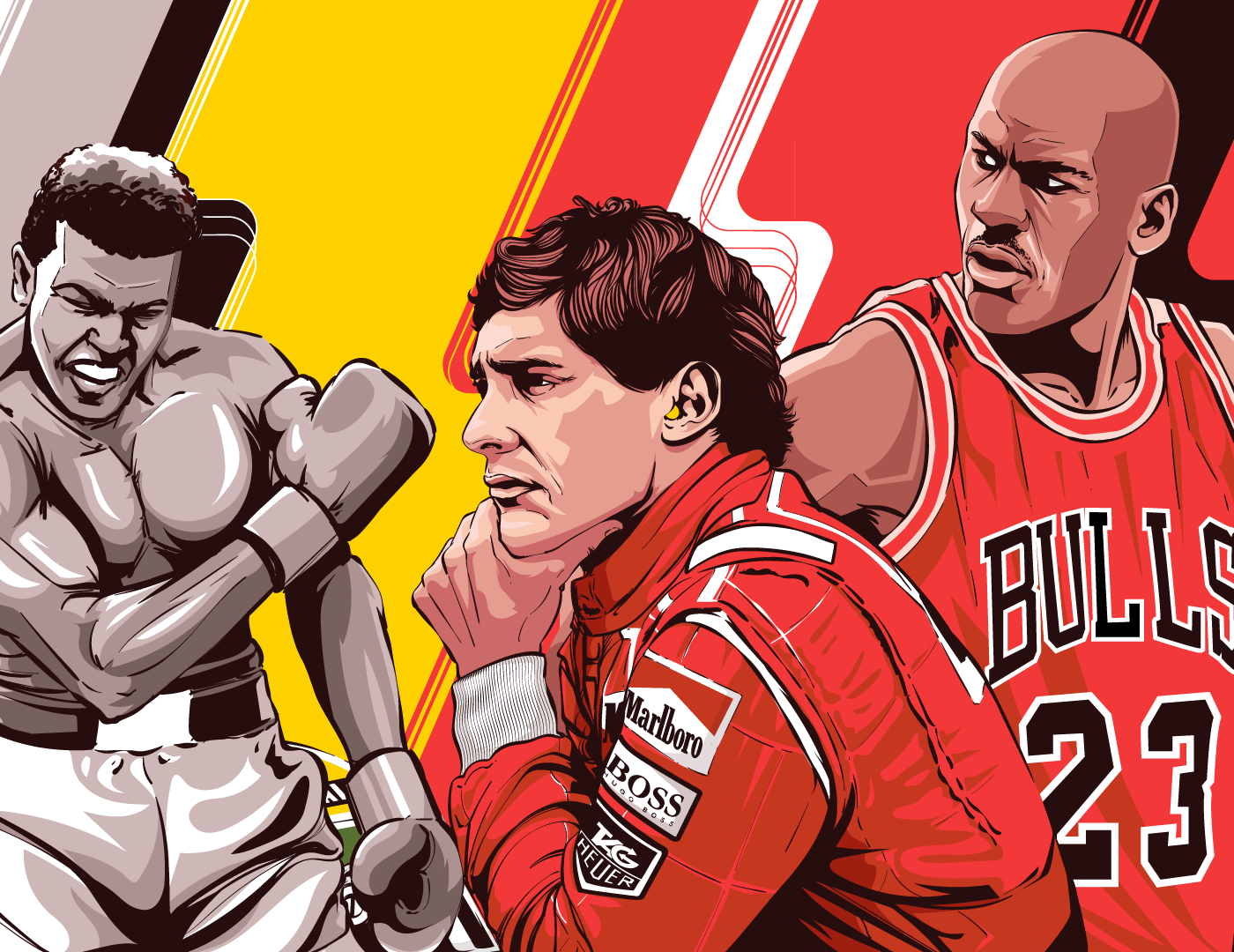 Top Sport Athletes Poster Illustration
